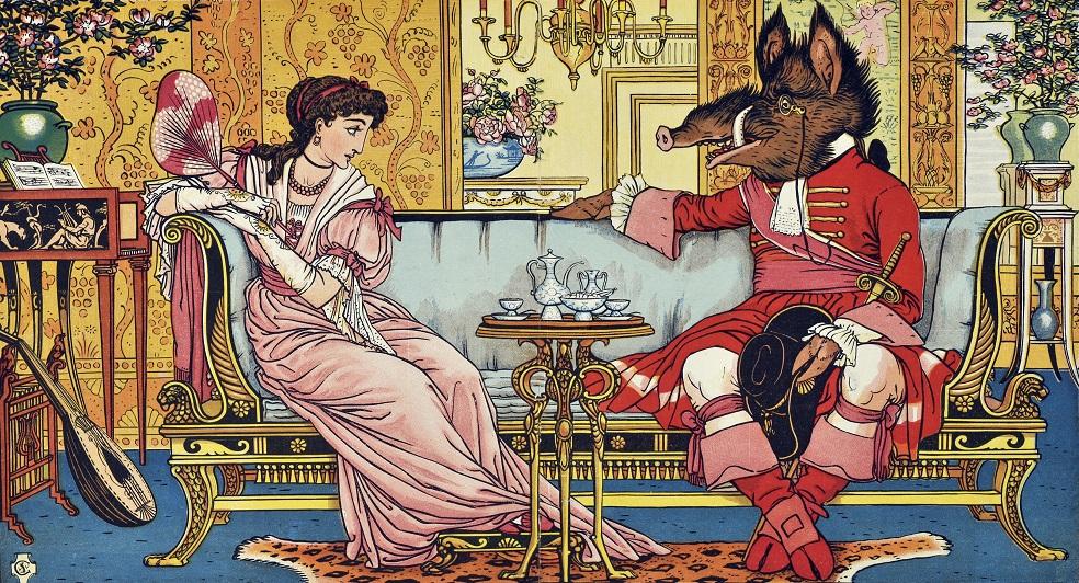 ウォルター・クレイン『美女と野獣』1874年